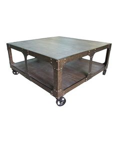 Look what I found on #zulily! Iron Storage Rolling Table #zulilyfinds