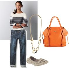 Love the laid back style - perfect hip-mom-wear!  like these jeans