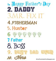 Free Fathers Day Fonts