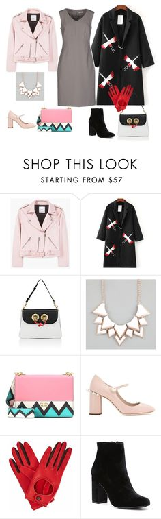 """гамин"" by belka-ops on Polyvore featuring мода, MANGO, WithChic, J.W. Anderson, Full Tilt, Prada, Miu Miu, Gizelle Renee и Witchery"