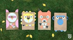Paper bag costumes // Wee Alphas go DIY for Hallowee! | Wee Society