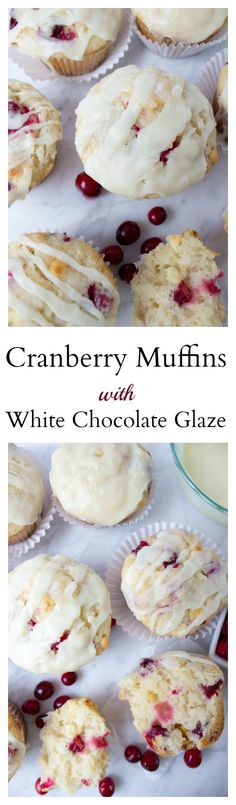 Cranberry Muffins with a scrumptious White Chocolate Glaze (cranberry cookies quick bread) Cranberry Muffins, Cranberry Cookies, Cranberry Recipes, White Chocolate Muffins, Chocolate Glaze, Dessert Simple, Muffin Tin Recipes, Baking Recipes, Yummy Treats
