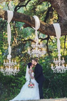 Chandeliers and cowboy boots at this Texas rock 'n' roll wedding