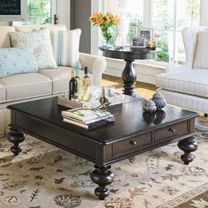 Put Your Feet Up Coffee Table with Lift Top (Would look SO good with dark wood floors in living room)