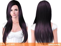 Free Sims 3 Hairs download - Butterfly Sims 121 hairstyle for females natural retextured. Combined textures plus mixed color controls and specular. All the credit for mesh go to B-fly