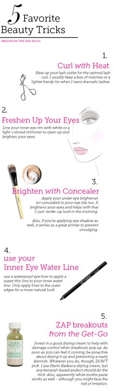 Five Favorite Beauty Tricks via BrightonTheDay Blog
