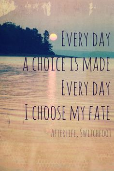 And I wonder why would I wait til I die to come alive? I'm ready now; I'm not waiting for the afterlife.    Christian Song Lyrics - Switchfoot, Afterlife