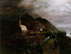 Wallfahrt zum Kloster Bornhofen am Rhein von Oswald Achenbach