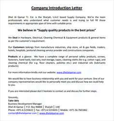 Sample business introduction letter 9 free documents in pdf word introductory letter sample business introduction letter 9 free sample thank you letter after interview fax cover sheet sample spiritdancerdesigns Gallery