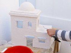 Te enseñamos a utilizar el poliuretano extrusionado para elaborar un precioso Belén en Navidad. Toilet Paper, Lily, Portal, Diorama, Arch, Rocks, Christmas Wreaths, Christmas Decor, Noel