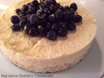"Raw Lemon Blueberry ""Cheesecake"" Vegan and Gluten-Free #rawfood #raw #glutenfree #vegan #lemon #cheesecake #blueberry #healthy"