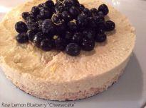 "Raw Lemon Blueberry ""Cheesecake"" Vegan and Gluten-Free #rawfood #raw #glutenfree #vegan #lemon #cheesecake #blueberry #healthy"