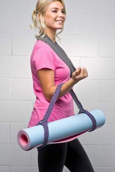 Small knit project : Knit yoga mat strap
