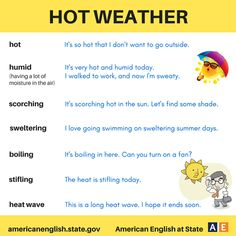 Different words for hot
