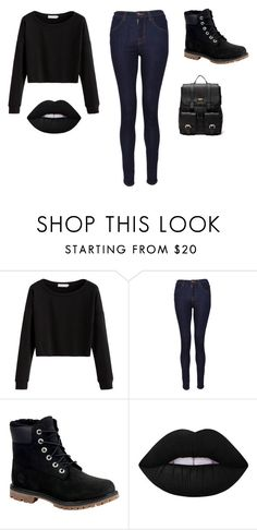 """""""Untitled #63"""" by shortiiiee on Polyvore featuring J Brand, Timberland, Lime Crime and Sole Society"""