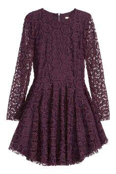 Vestido de encaje circular   H&M