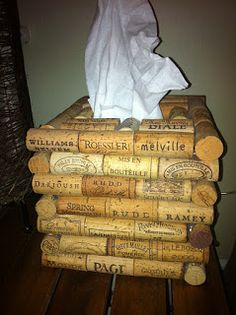 Cork tissue holder for other cork lovers like us! Get your corks from us - http://corks-n-crafts.com
