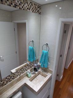 Banheiro - apartamento Danilo e Daiane  Projeto: Sergio R. Pereira Designer de Interiores Fone: (11) 95475-7897 projeto@sergiorpereira.com.br