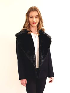 Black Summy jacket Amelia, Fur Coat, Elegant, Jackets, Outfits, Black, Dresses, Style, Fashion