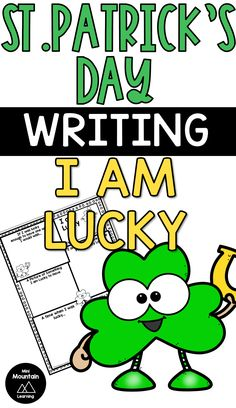 Patrick's Day writing activity for elementary. Writing Activities, Learning Resources, Classroom Activities, Activities For Kids, Social Emotional Learning, St Patricks Day, Coloring Pages, Have Fun, Poems