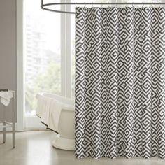 Madison Park Pure Dimitra Shower Curtain in Black - BedBathandBeyond.com