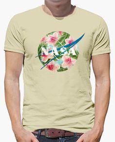 Camiseta Nasa Vintage Tropical Blue Emblem