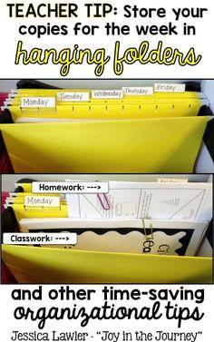 Time-saving tips for organizing your teacher desk! Teacher Desk Organization, Classroom Organisation, Classroom Setup, School Classroom, Classroom Management, Organizing, Organization Ideas, Future Classroom, Learning Organization