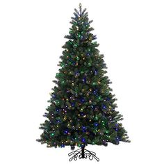 10 PreLit Noble Pine Instant Shape Artificial Christmas Tree  Multi LED Lights *** You can get more details by clicking on the image.
