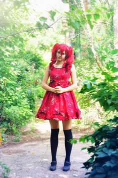Original cosplay Lolita Cosplayer-me Photo by Molly Red lolita cosplay Lolita Cosplay, Skater Skirt, My Photos, Skirts, Red, Fashion, Moda, La Mode, Skirt