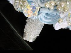 Winter Blue & White Crystal Snowflake Rose by EleganceOnTheAvenue, $525.00
