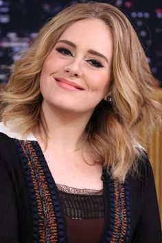 Adele on 'The Tonight Show Starring Jimmy Fallon' in 2015. http://beautyeditor.ca/2016/02/13/adele-before-and-after