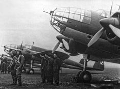 Polish Łoś medium bombers with pilots and air crews, 1939 History Online, Korean War, Military Aircraft, World War Two, Wwii, Air Force, Fighter Jets, Aviation, Black And White