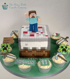 Minecraft Cake and Cupcakes | by The Clever Little Cupcake Company
