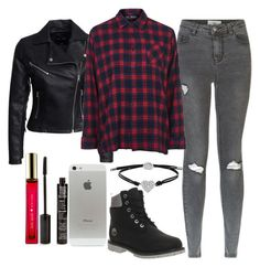 """""""Untitled#1307"""" by mihai-theodora ❤ liked on Polyvore featuring FOSSIL, New Look, Topshop, Timberland, TheBalm and Kate Spade"""