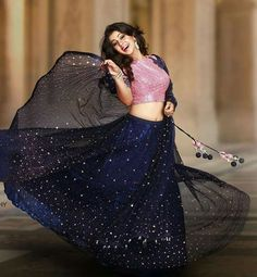 nikki galrani in pranaah Lehenga Choli Designs, Half Saree Designs, Blouse Designs, Indian Attire, Indian Wear, Hindu Girl, Indian Dresses, Indian Outfits, Indian Clothes