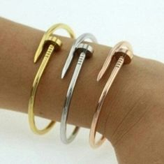 Gold Tone Nail Bracelet Gold Tone Nail Bracelet, slim and delicate.   ??NO PayPal ??NO Trades ??NO Low-Balling...    ???? & ?? free House....   ALL Offers are Welcome via Offer Feature... ??? Jewelry Bracelets