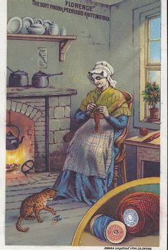 Vintage Trade Card for Florence Knitting Silk (c. 1885)