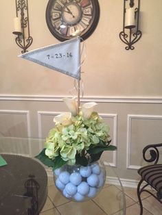Mind Blowing Ineffable Golf Pro Ideas and Tips. Irrestible Golf Pro Ideas and Tips. Golf Wedding, Wedding Couples, Wedding Ideas, Golf Centerpieces, Golf Decorations, Golf Ball Crafts, Golf Outing, Golf Theme, Golf Party