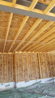Garage ceiling spray foam insulation
