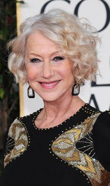 Helen Mirren's curls at the 2013 Golden Globes