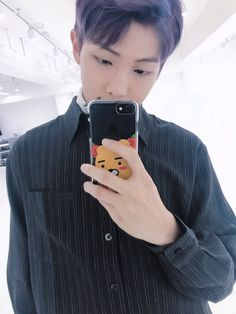 Rap Monster ❤ [BTS Tweet] D-1  (COMEEEBACKKK! Look at RM's cute phone case and his cute face haha) #BTS #방탄소년단
