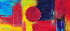 """Painters Abstract Gallery: """"Happiness"""" Colorful Joy Textured Acrylic ..."""