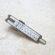 Vintage Sterling Tie Bar Slide Rule. I have an all-metal one.
