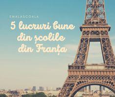 Am locuit in Franta 3 ani. Nu am predat in scoala lor, dar copilul meu a frecventat 2 scoli diferite si expun mai jos doar 5 lucruri care mi-au placut. Multa lume m-a intrebat tocmai despre aceste aspecte pe care le insir mai jos, asa ca le-am facut pachet. Sunt si alte lucruri care m-au impresionat la scolile franceze, dar trec aici doar cateva.  Copilul meu a frecventat o scoala internationala si una europeana. La cea internationala a fost in clasele, echivalente la noi, a patra si a cin Printable Worksheets, Teaching Resources, School, Building, Blog, Travel, Viajes, Buildings, Blogging