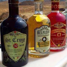 A Belgian Flag you can drink! - Black: Belgin St Cruyt gin - Yellow: Belfleur elderflower liqueur - Red: Belgin Raspberry Rosé gin