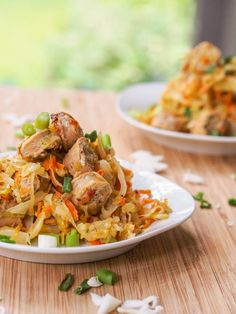 6-ingredient Cabbage Hash with Chicken Sausage and Carrots - A classic Russian meal, one of those simple comfort meals you can't say no to. Serves 4; use nitrate-free chicken or turkey sausage. (Saute in a nonstick pan for Phase 1, with water or broth if necessary.)