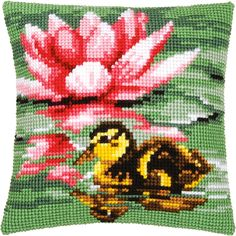 Duck cross stitch.