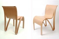 New York-based Lerival have created the Kulms Chair 02.1 CUT, from molded plywood. | #Furniture #Chairs #InteriorDesign |
