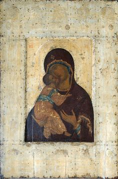 Andrei Rublev - Rublev3Public Domain Version of the Theotokos of Vladimir, ca. 140