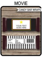 Movie Hershey Candy Bar Wrappers template